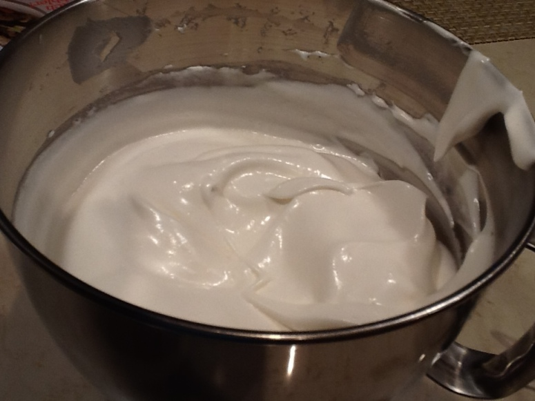 Egg Whites - thick and shiny