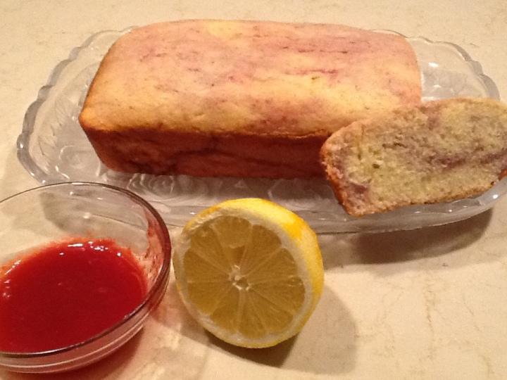 Lemon-Raspberry Buttermilk Pound Cake & Fit is the NewSkinny