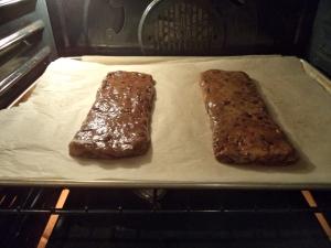 Biscotti dough ready to bake.