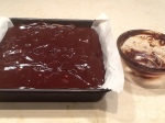 Step 3-Chocolate Ganache spread over chilled bars