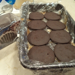 Mid Layer of Chocolate Wafers