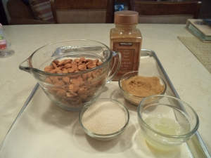 Nuts, Cinnamon, Sugars, Egg Whites and Water