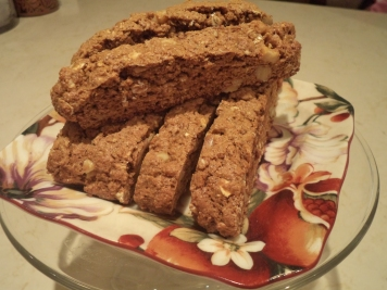 Ginberbread Biscotti with Oatmeal
