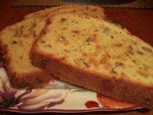 Butterscotch toasted walnut pound cake