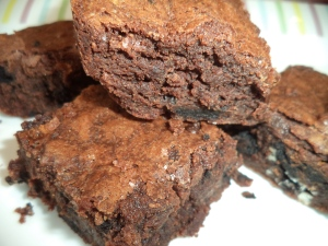 Brownies with Chocolate Sandwich Cookies