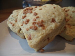 Scones with Orange Zest and Toffee Bits
