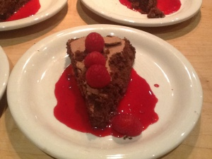 Flourless Chocolate Cake with Raspberry Coulis