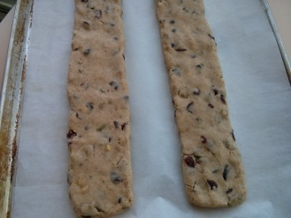 Biscotti ready for first baking