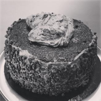 Last blob of creamy chocolate icing......