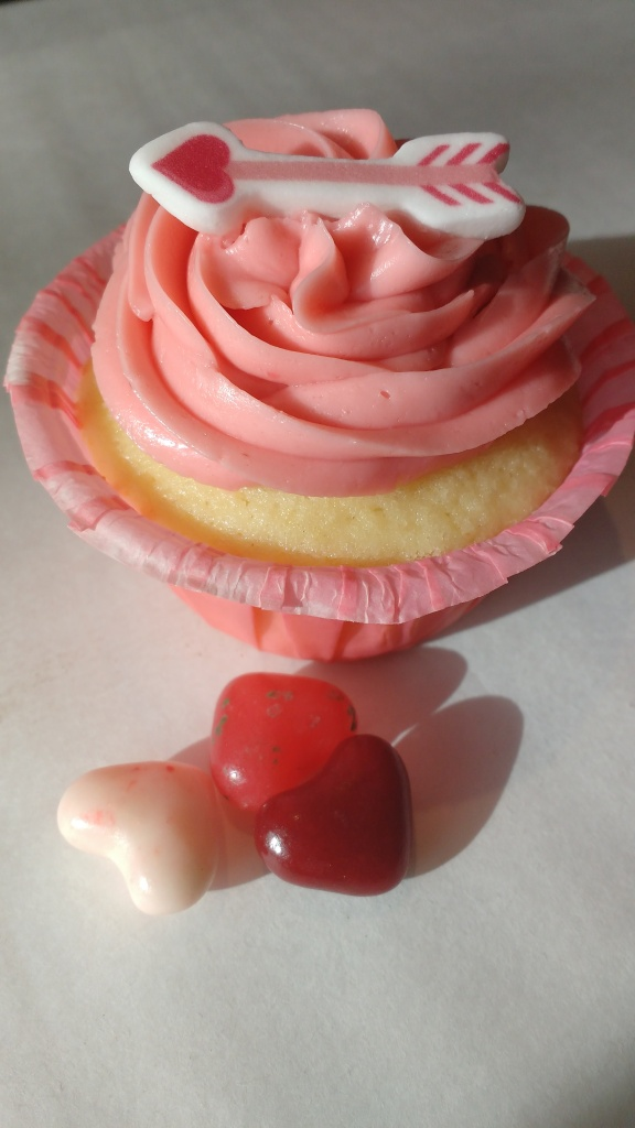 Adorned Vanilla Cupcake