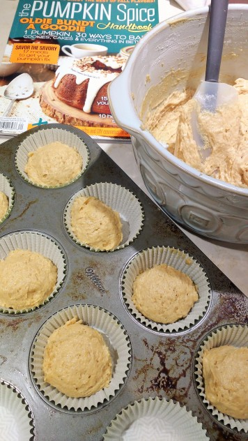 Pumpkin Muffins ready for 350F oven
